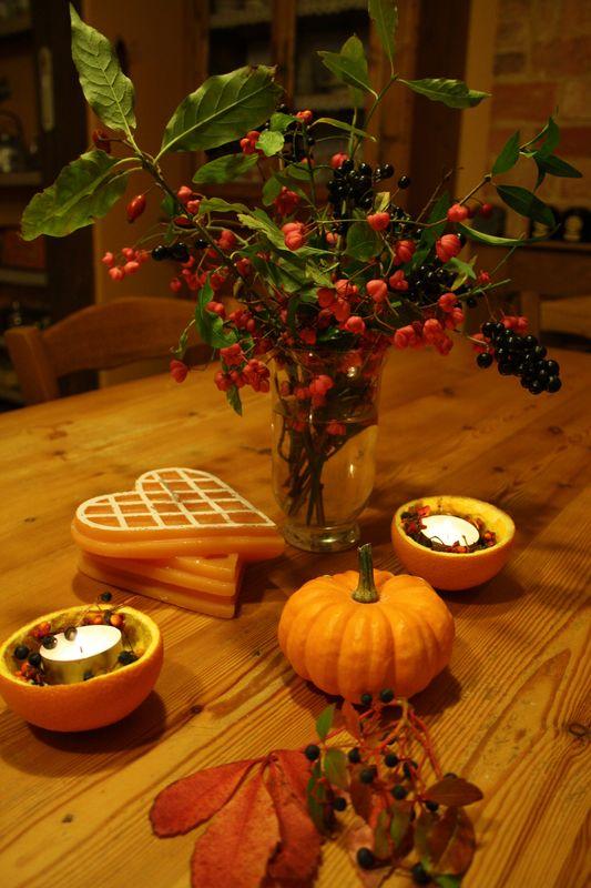 Douceurs d'automne (le 1er nov 2012) dans Décoration de table bouquet-de-baies