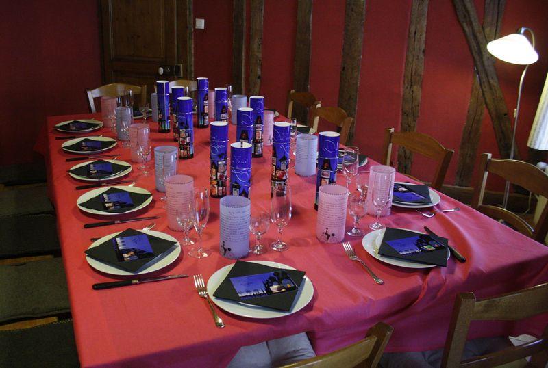 Decor Table Anniversaire Noire Et Bleues