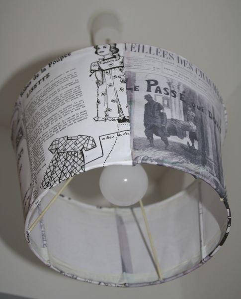 La maison des hippos - Recouvrir un abat jour avec du papier ...