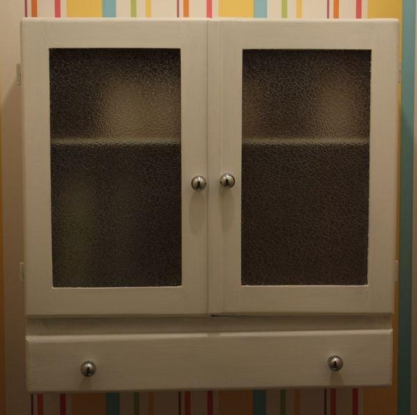 armoire toilette blanche