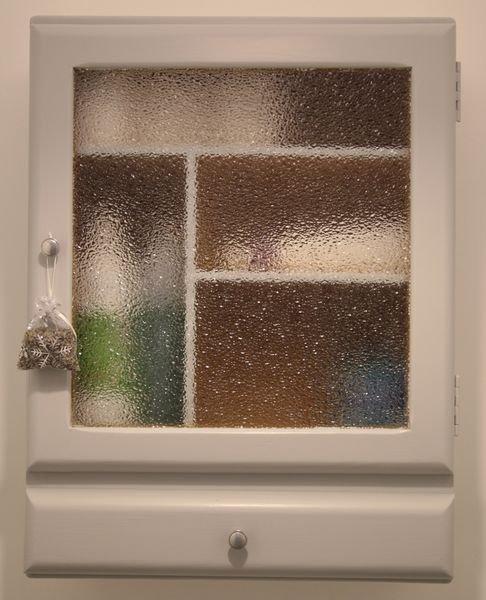 armoire toilette grise